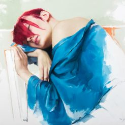 Untitled (Woman in Blue) by Misha Rappaport
