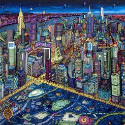 New York by Night by Johann Perathoner